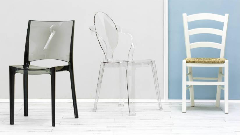 DALANI | Sedie in plastica trasparente: note design