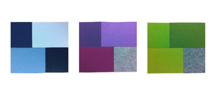 pattern e tessuti per coprivaso in feltro