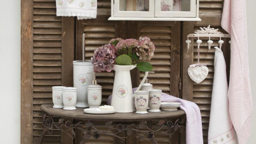 mobile bagno rustico dispenser in ceramica