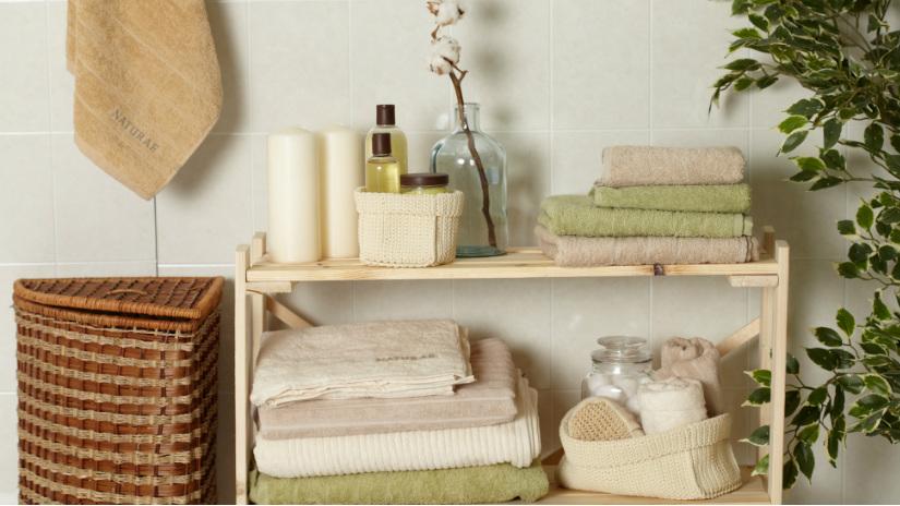 mobile bagno rustico asciugamani portabiancheria