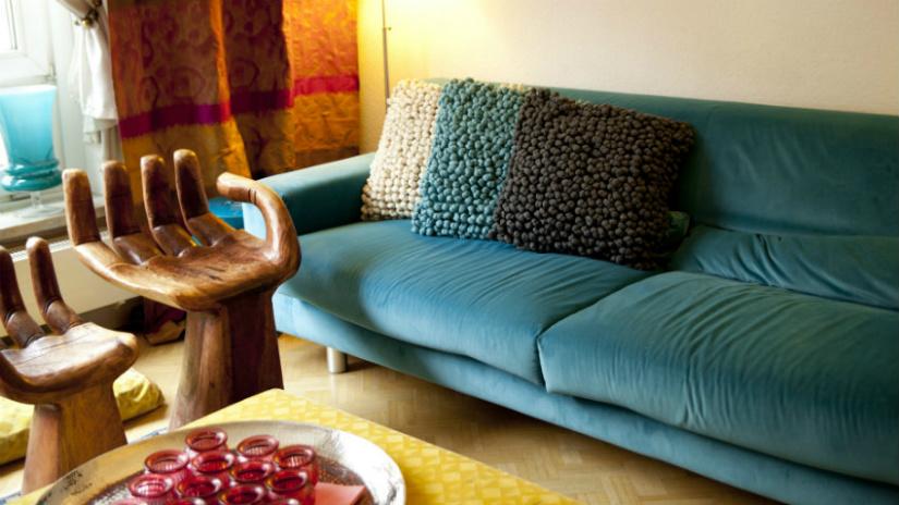 struttura divano letto stile etnico