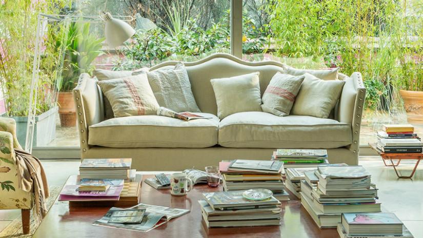 casa chic con divano