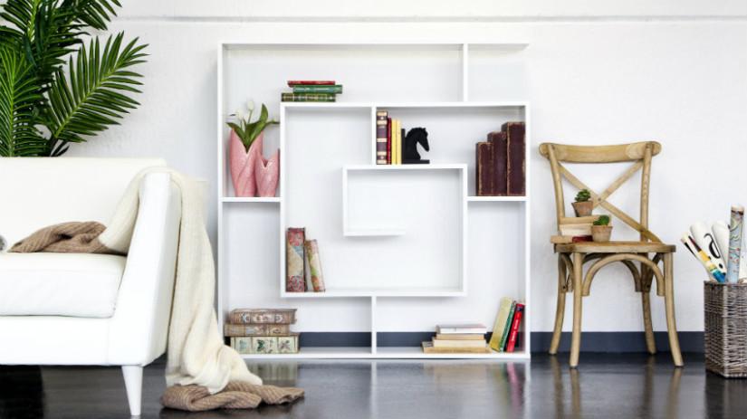 libreria moderna bianca