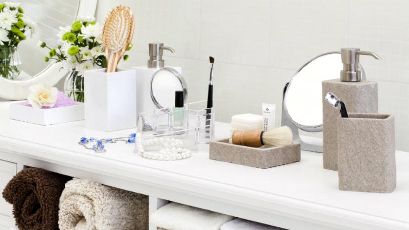 specchio contenitore per bagno make up impeccabile con un semplice gesto