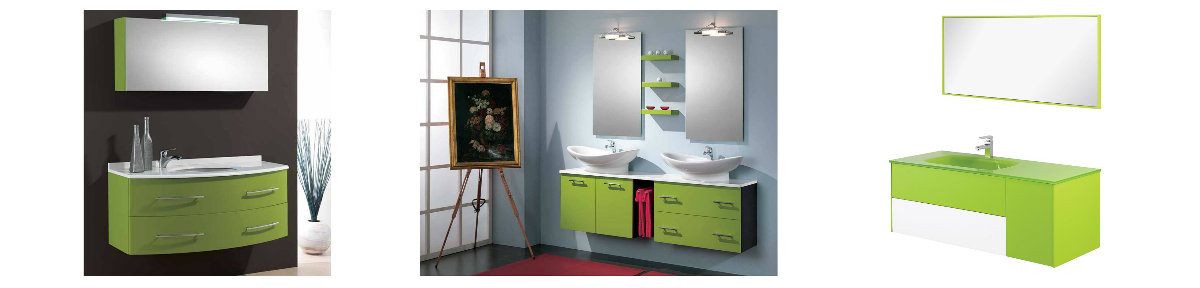 mobile bagno verde unoasi di pace e relax