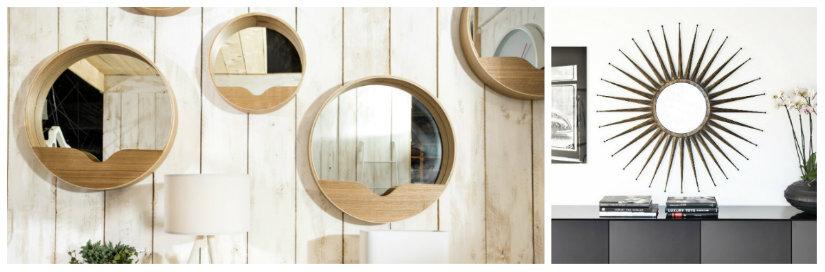 specchi moderni in legno