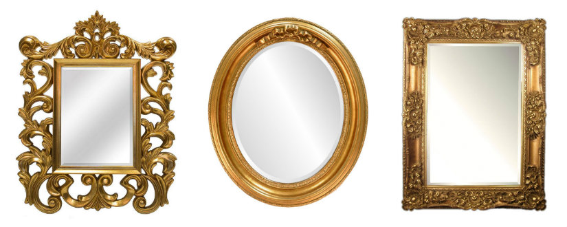 Cornici dorate per specchi eleganza senza tempo dalani e ora westwing - Specchi rotondi da parete ...