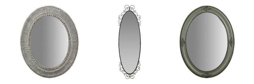 specchio ovale antico collage