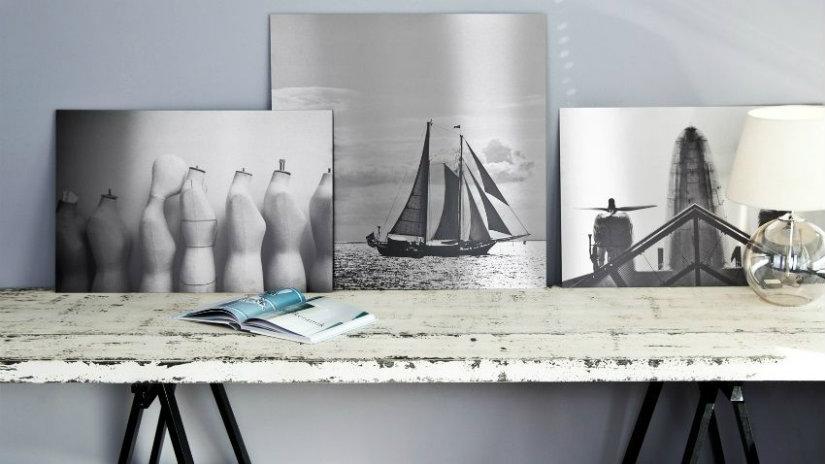tavolo bianco decapato foto stampe