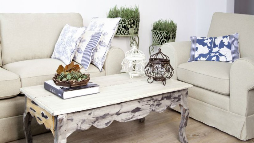 tavolo bianco decapato tavolino basso salotto