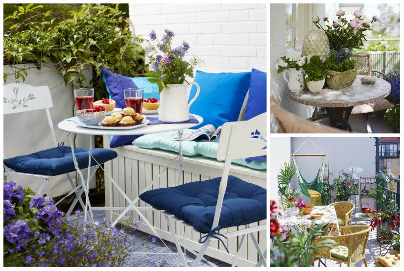 terrazzo di design tavolino sedie mobili fiori piante
