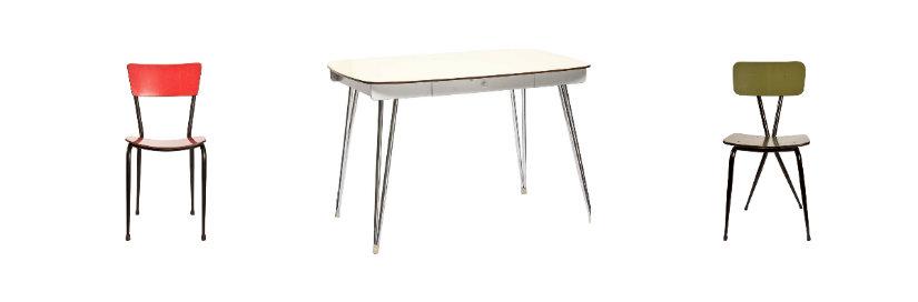 arredamento anni '50 tavolo sedie