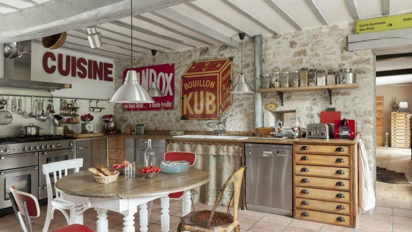 arredamento anni '50 tavolo cucina stampe
