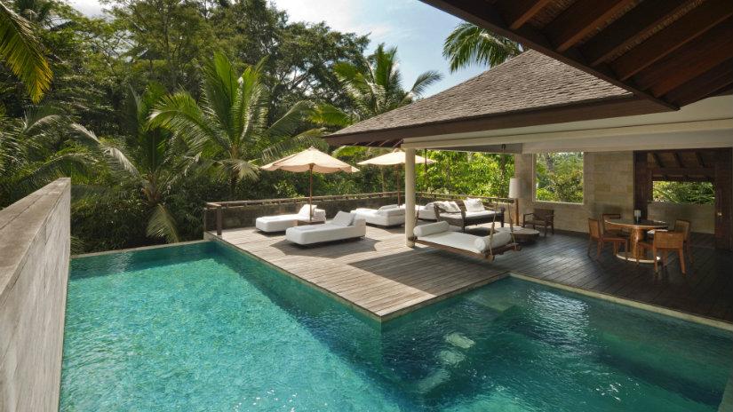 giardini moderni piscina ombrelloni palme
