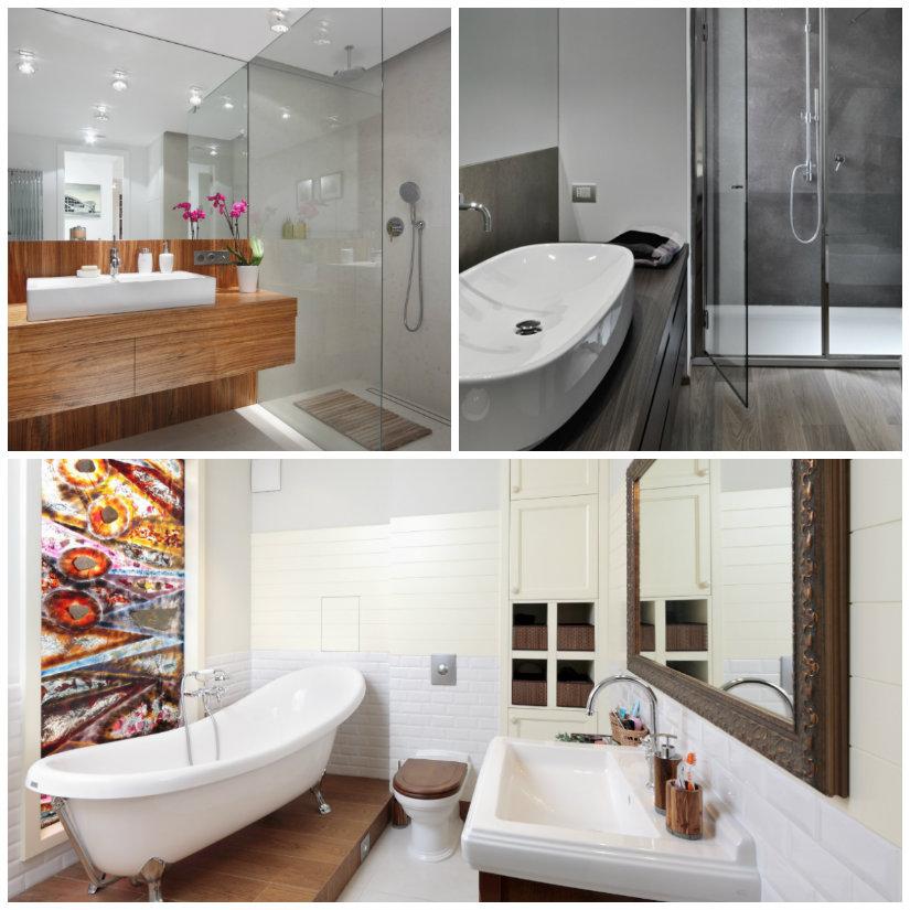 istrutturare il bagno lavandino lavabo sgabello piantine vasca