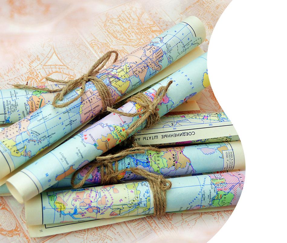 carte geografiche per regali