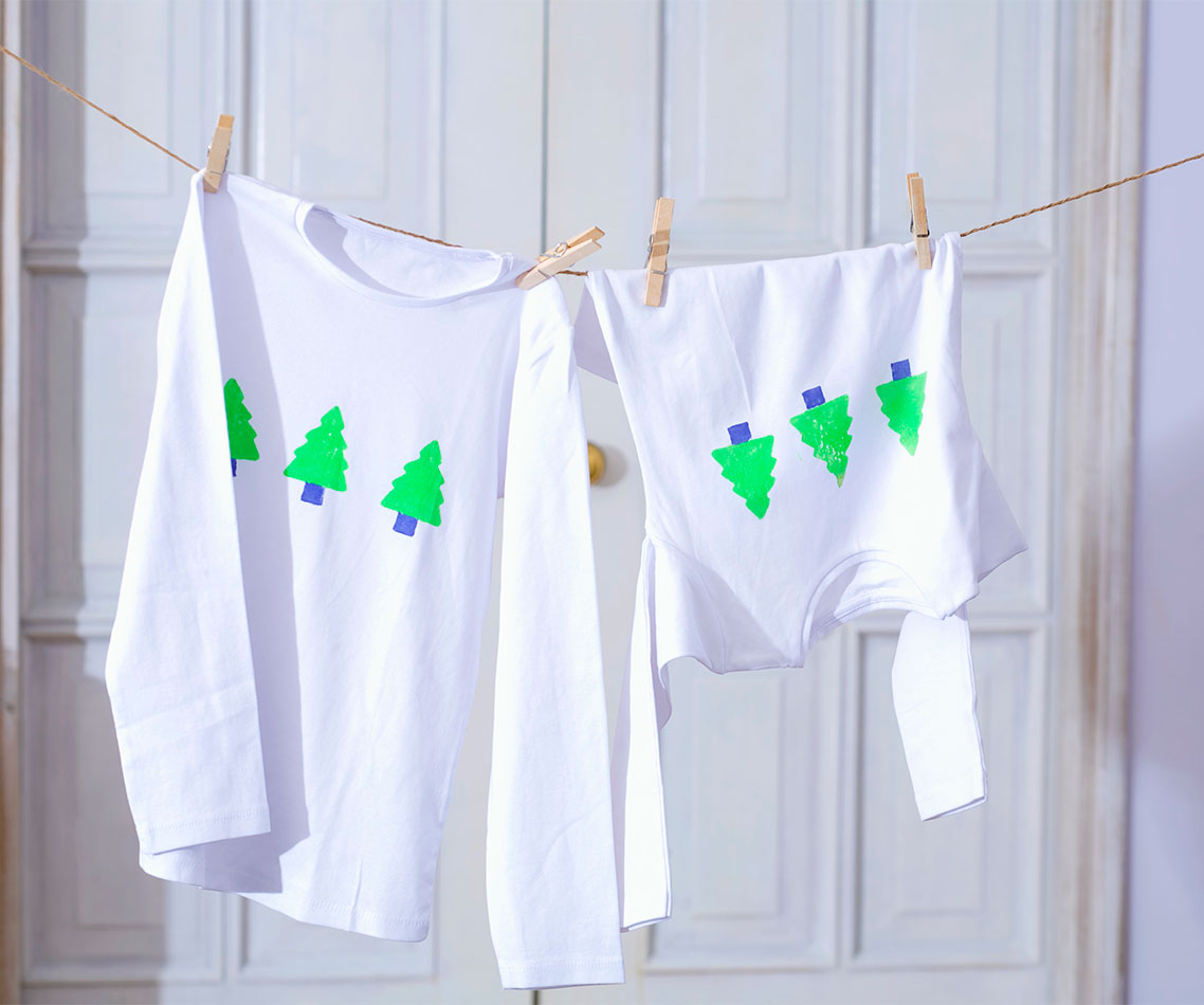 t shirt con alberi di natale