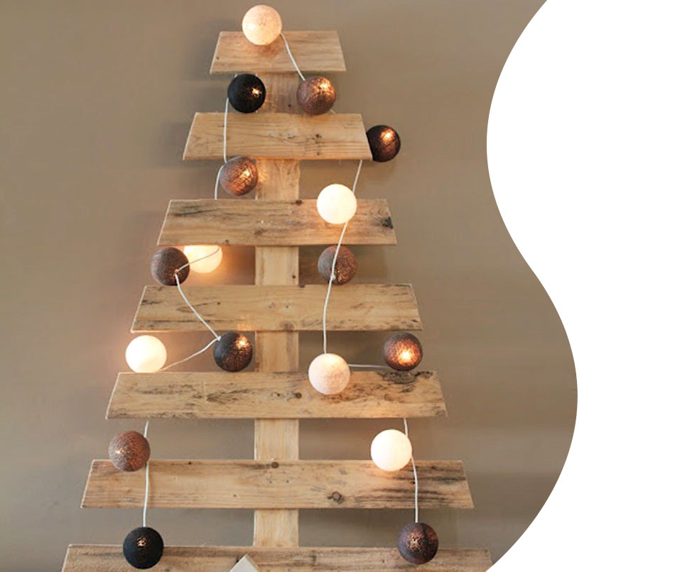 albero di Natale con i pallet