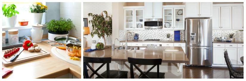 cucine moderne in legno frigorifero a due ante