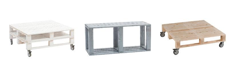 tavoli con bancali industrial