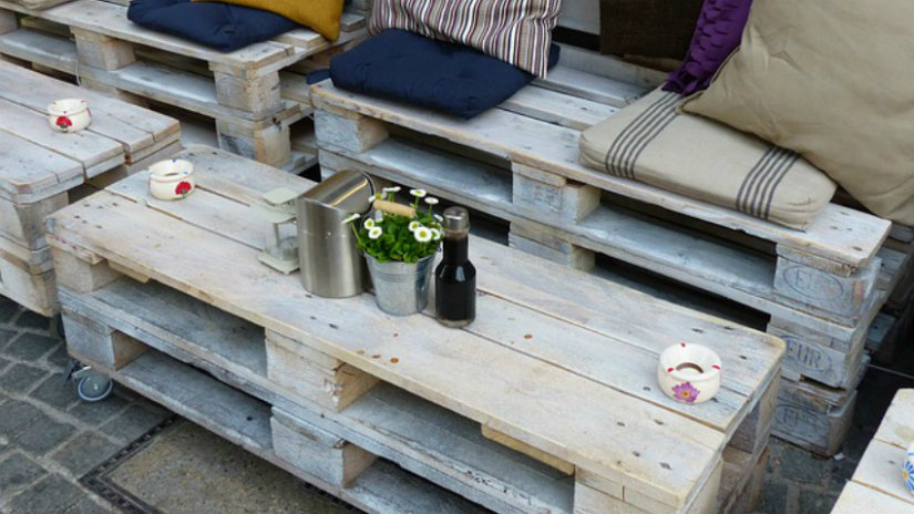 tavoli con bancali outdoor