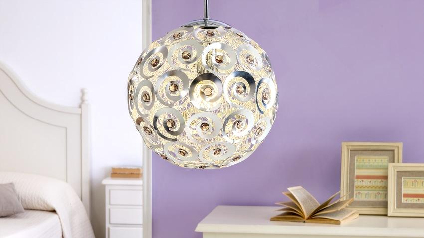 Ronde glazen hanglamp valeria voor in de keuken lampen be