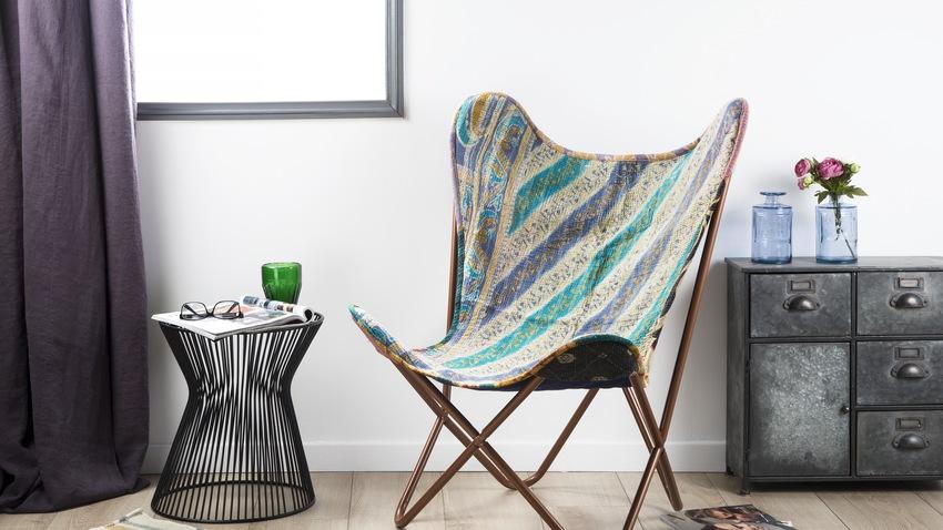 design stoffen fauteuil bonte kleuren