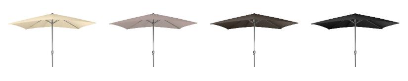 parasols moderne stijl vierkante vorm wit antraciet