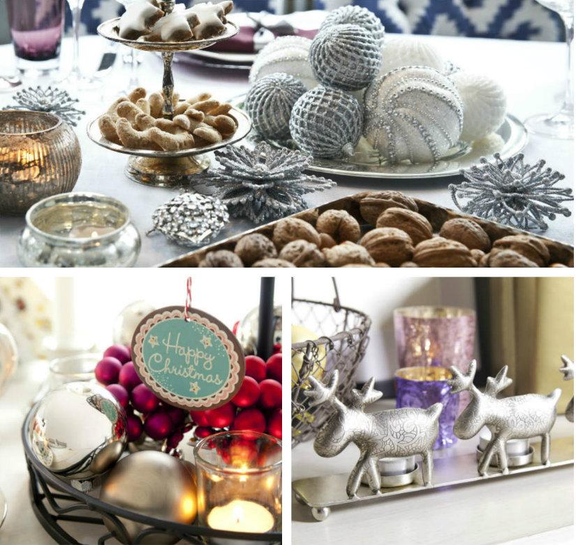 Kerst tafeldecoratie zilver rood goud rendier