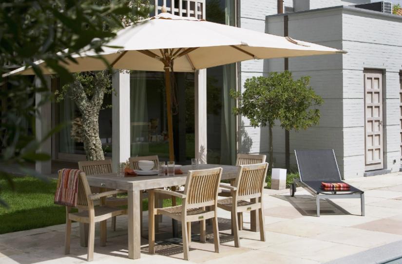 houten tuinmeubelen teak robuuste tuinset stoelen tafel