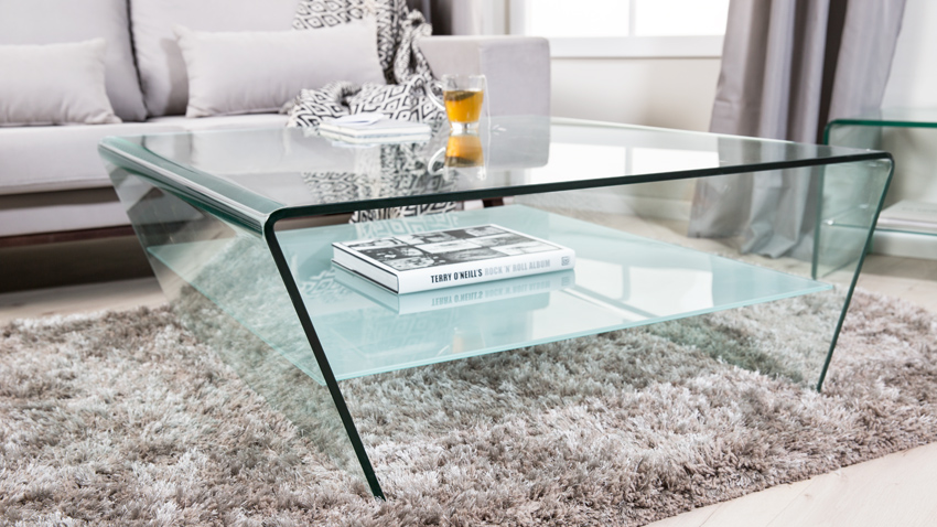 Lage Glazen Tafel.De Prachtige Glazen Salontafel Westwing