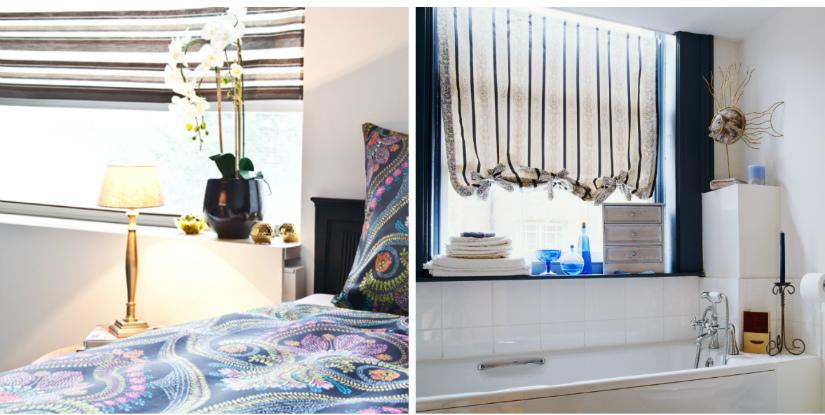 raambekleding klassieke stijl strepen verticaal horizontaal slaapkamer boho