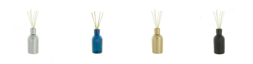 geurstokjes houten stok gouden kleur blauwe zilveren metallic look