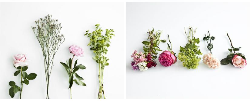bloemenkrans groen bloemetjes kiezen roze anjer