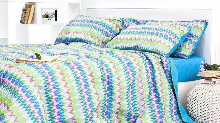 flanel dekbedovertrek in bonte kleuren