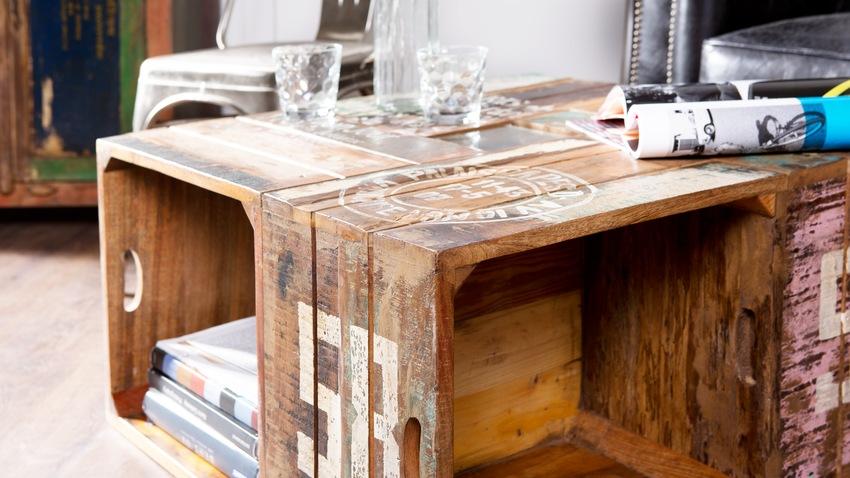 houten krat als salontafel