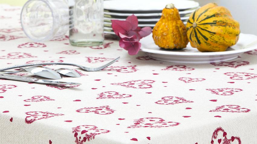plastic tafelkleed witte borden