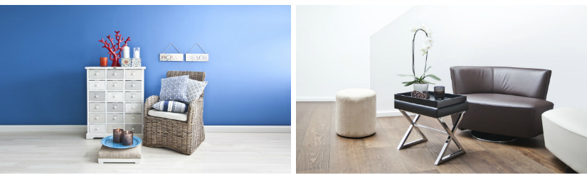 pvc vloer klassiek landelijke stijl dressoir ladekast witte poef