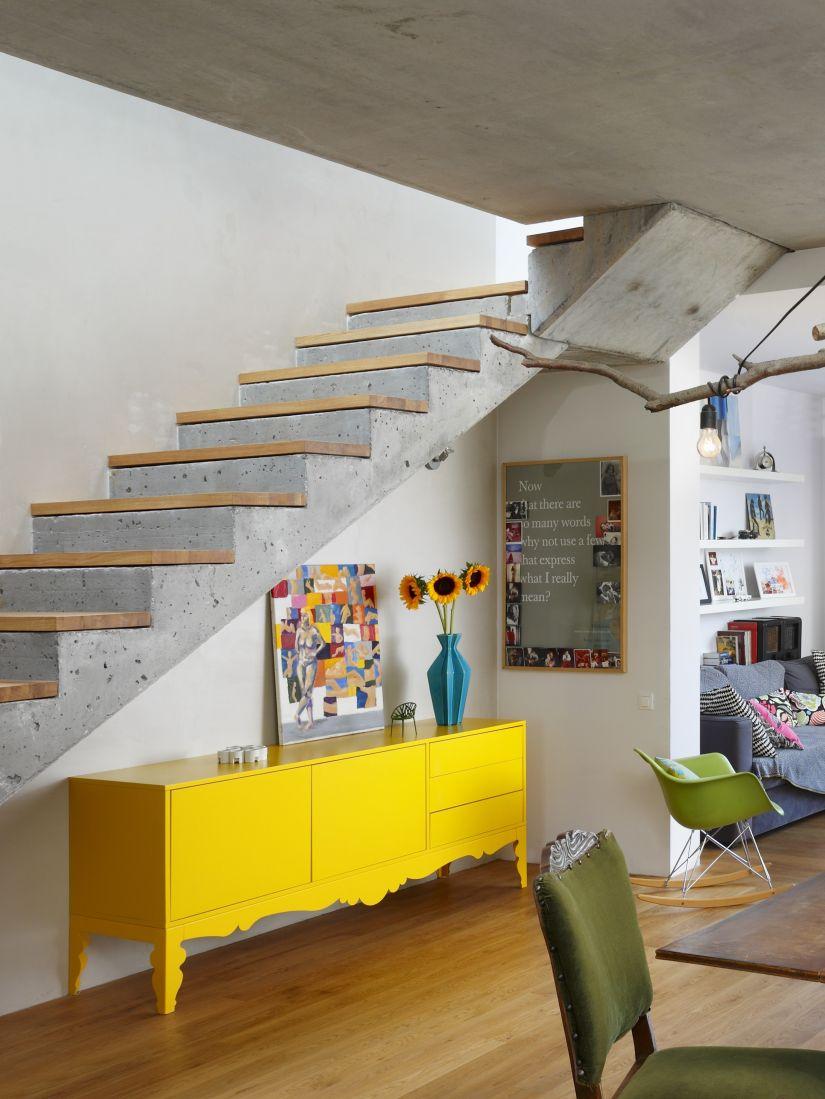 trapbekleding hout op betonnen trap