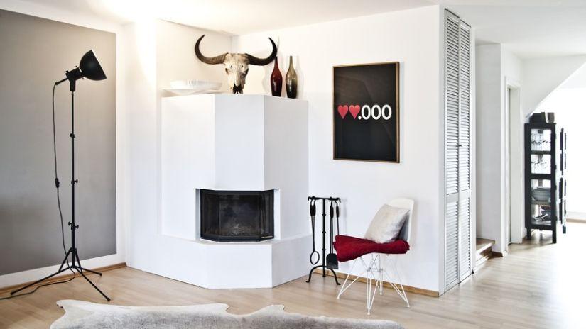 verwarming inbouwhaard in moderne woonkamer