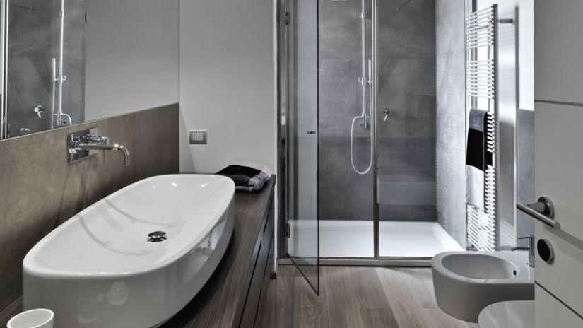 verwarming moderne badkamer met vloerverwarming