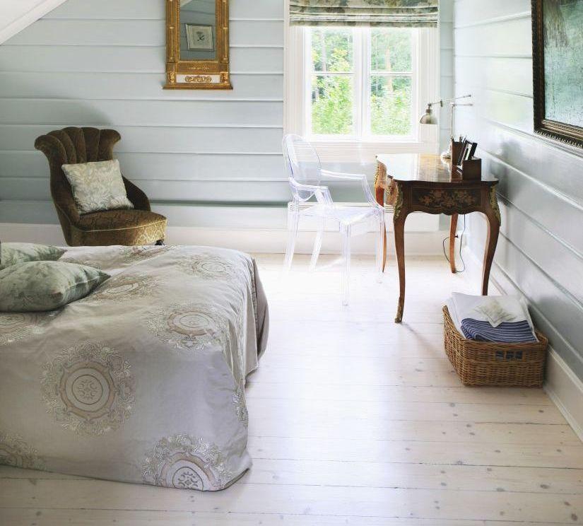 vinyl laminaat op klassieke slaapkamer