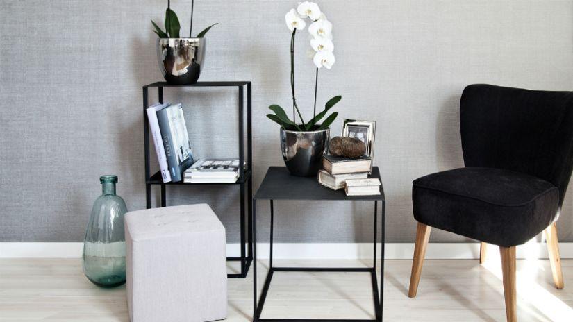 grijs eiken vinyl laminaat moderne meubels