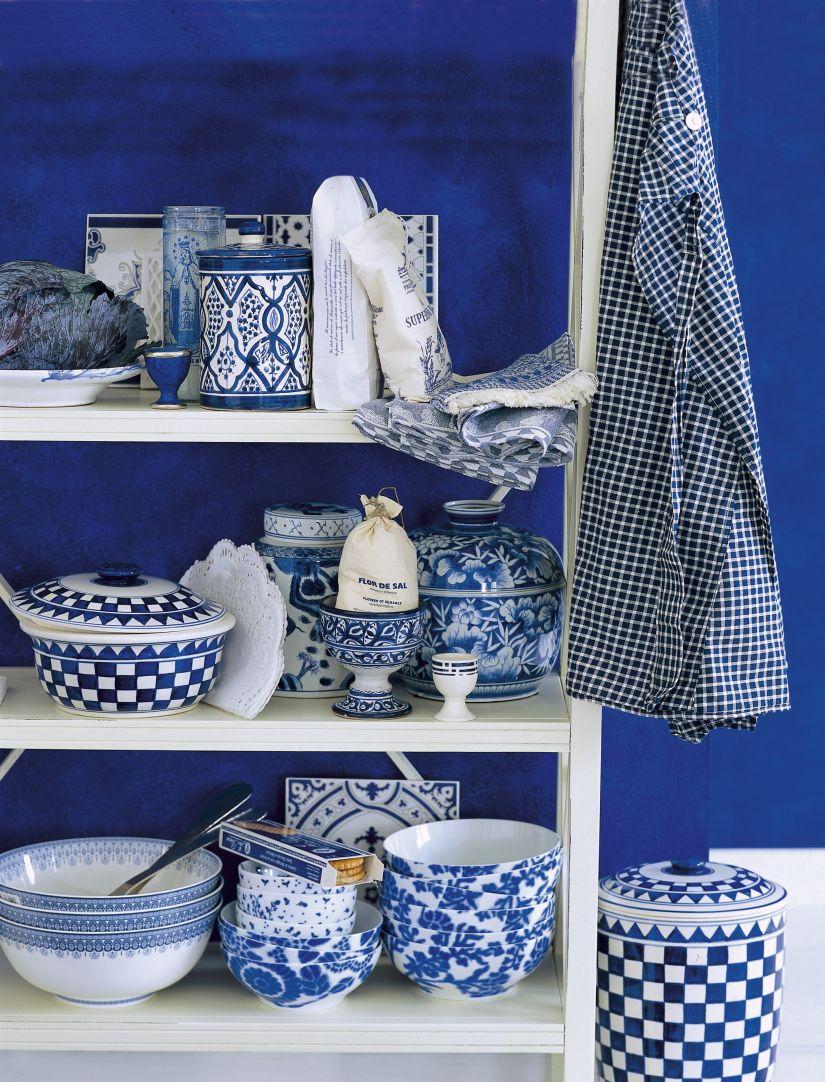 delfts blauw in wit kastje
