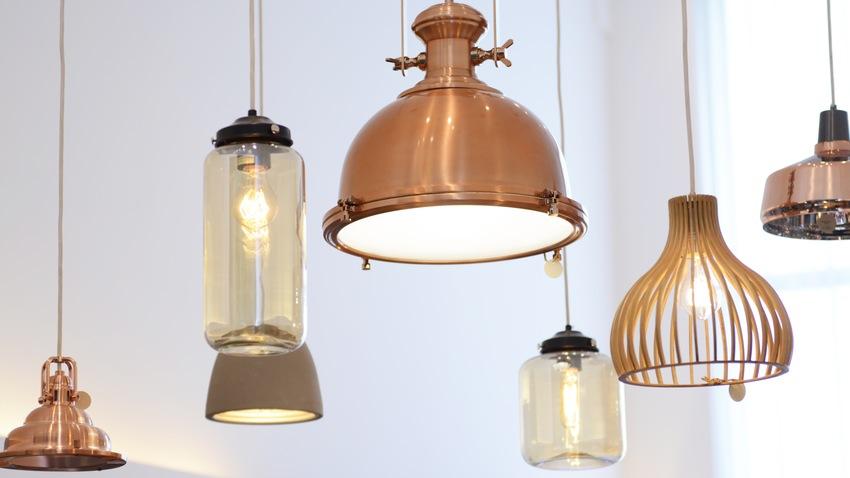 koperen hanglampen verschillende varianten