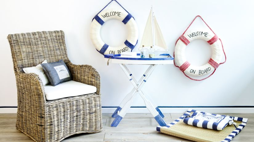 rieten tuinset in maritieme stijl