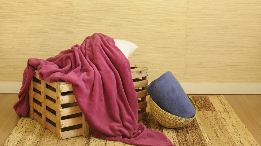 roze fleece deken met mouwen