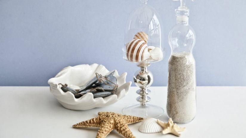 schelpenkrans schelpen in verschillende schelpenhouders