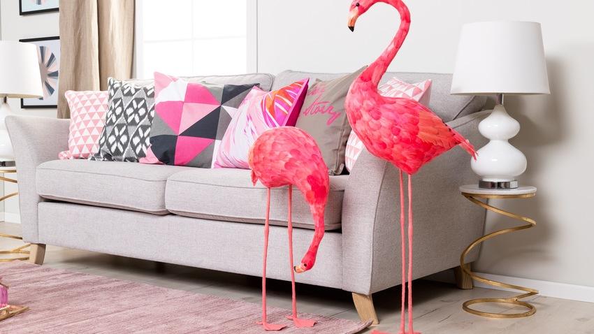 Een trendy roze kleed voor in de huiskamer westwing - Trendy kamer schilderij ...