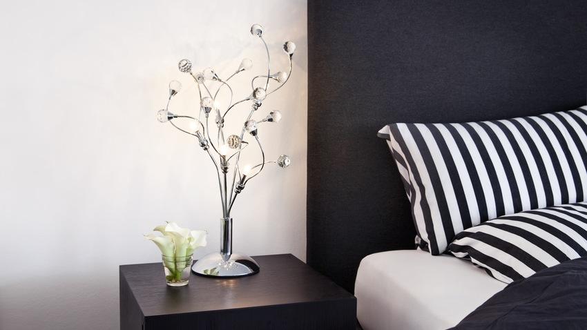 zwart wit dekbedovertrek moderne slaapkamer